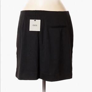 NEw With Tag ASOS Black Mini Skirt Snap Closure-8